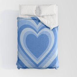 Beating Heart Blue Comforters