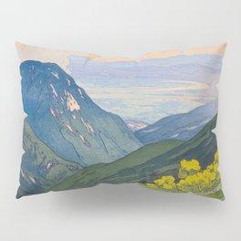 Otenjo Mountaine Alps Vintage Beautiful Japanese Woodblock Print Hiroshi Yoshida Pillow Sham