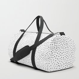 Dotted White & Black Duffle Bag