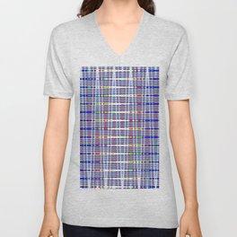 rhombus blue Unisex V-Neck
