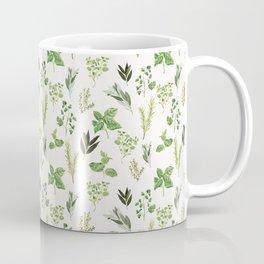 Delicate Herb Illustrations Coffee Mug