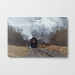 Big Boy Steaming threw Black Wolf Kansas Metal Print