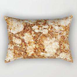 Marbled Teakwood Rectangular Pillow