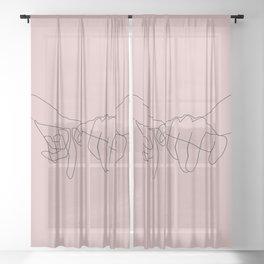 Blush Pinky Sheer Curtain