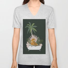 Jungle Spa Unisex V-Neck
