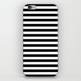 Stripe Black And White Vertical Line Bold Minimalism Stripes Lines iPhone Skin