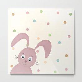 Bunny kids room Metal Print