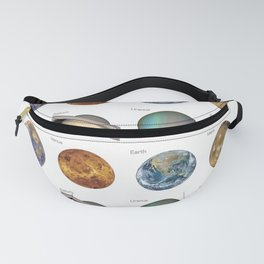 Planets solar system Fanny Pack