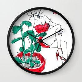 Jaded Pinup Wall Clock