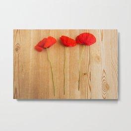 3 poppies Metal Print