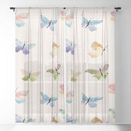 Beautiful Butterflies Sheer Curtain