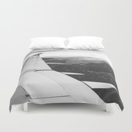 Mountain State // Colorado Rocky Mountains off the Wing of an Airplane Landscape Photo Duvet Cover