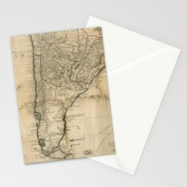 Map of Paraguay & Chili, South America (1718) Stationery Cards