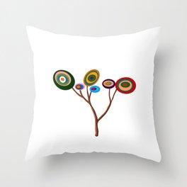 Arbol de colores Throw Pillow