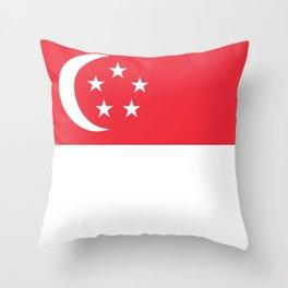 Singapore Flag Throw Pillow