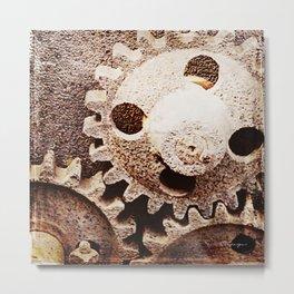 GEARS Metal Print