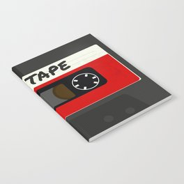 Red Mix Tape Notebook