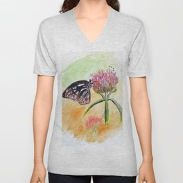 Erika Butterfly Two Unisex V-Neck