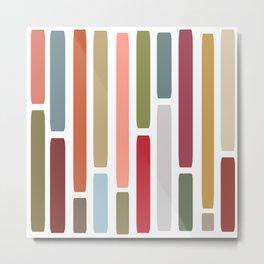 Mid Century Modern Stripes Metal Print