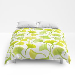 First Day of Autumn Ginkgo Leaves Comforters