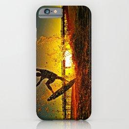Skimboarding Sunset iPhone Case