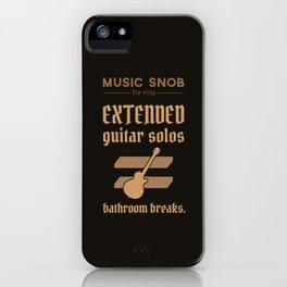 Solos = DON'T GO-s! — Music Snob Tip #723 iPhone Case