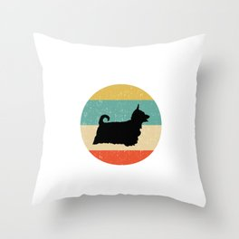 Silky Terrier Dog Gift design Throw Pillow