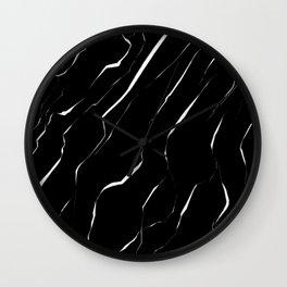 Modern Unique White Black Marble Pattern Wall Clock