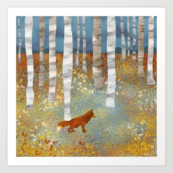 Autumn Fox by spacefrogdesigns