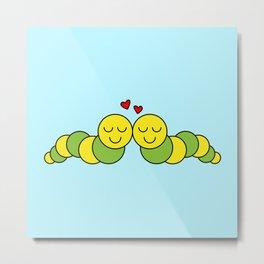 Sweet Caterpillars Metal Print