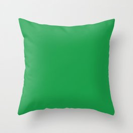 Dunn & Edwards 2019 Trending Colors Get Up and Go Green DE5636 Solid Color Throw Pillow