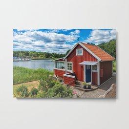 Swedish national summer house Metal Print