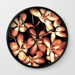Wildlowers In The Moonlight Wall Clock