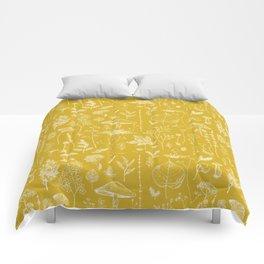 Woodland Walk / Mustard Comforters