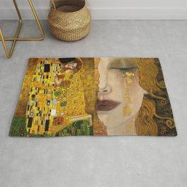 Gustav Klimt portrait The Kiss & The Golden Tears (Freya's Tears) No. 1 Rug
