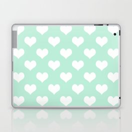 Mint Green Sweet Heart Laptop & iPad Skin