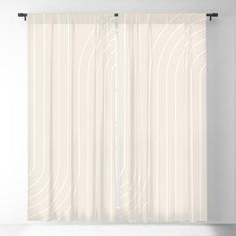 Minimal Line Curvature - Subtle White Blackout Curtain