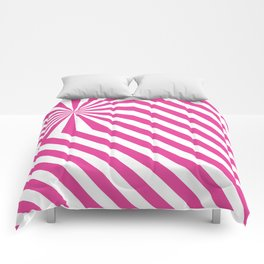 Stripes explosion - Pink Comforters