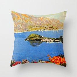 Italy Bellagio Lake Como Throw Pillow