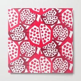 Pomegranate Patterns Metal Print