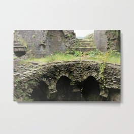 Caerphilly Castle Ruins Metal Print