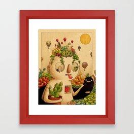 Succulent Man Framed Art Print