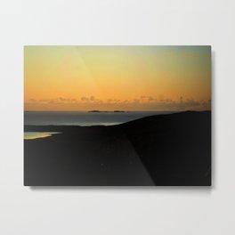 Hebridean Isle Sunset Metal Print