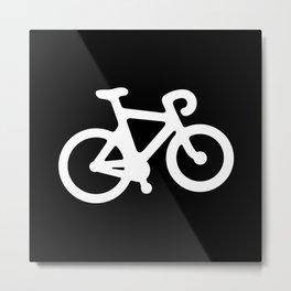 Black and White Bikes Pattern Metal Print