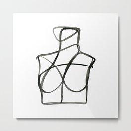 The Woman II Line Artwork Metal Print