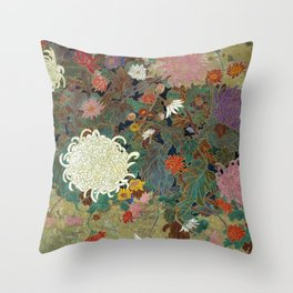 flower【Japanese painting】 Throw Pillow