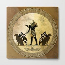 Anubis the egyptian god Metal Print