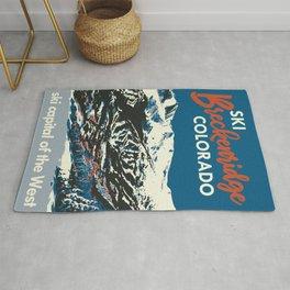 Breckenridge Vintage Ski Poster Rug