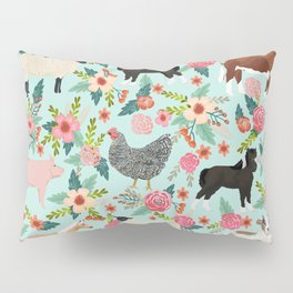 Farm gifts chickens cattle pigs cows sheep pony horses farmer homesteader Pillow Sham