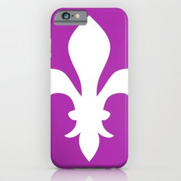 Fleur de Lis (White & Purple) iPhone Case